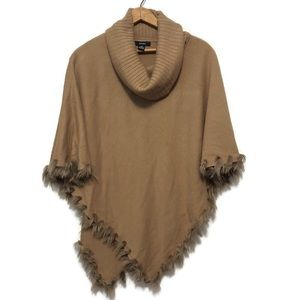 Alfani light brown poncho sweater size S/M